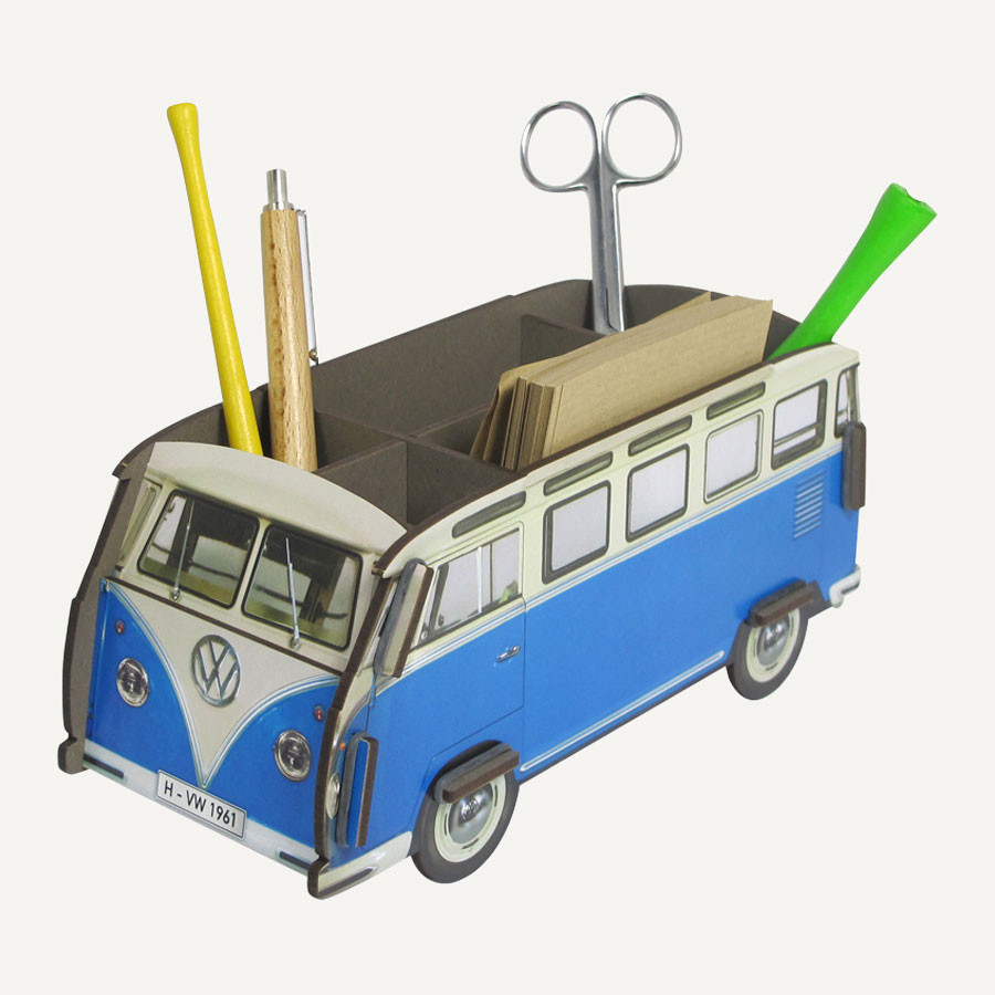 "Stiftebox ""VW Bus"" blau"