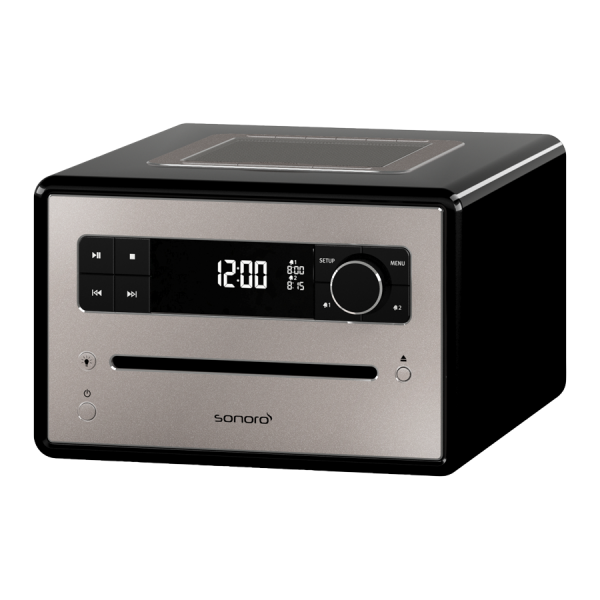 "Digitalradio mit CD-Player ""sonoro Qubo"" schwarz"