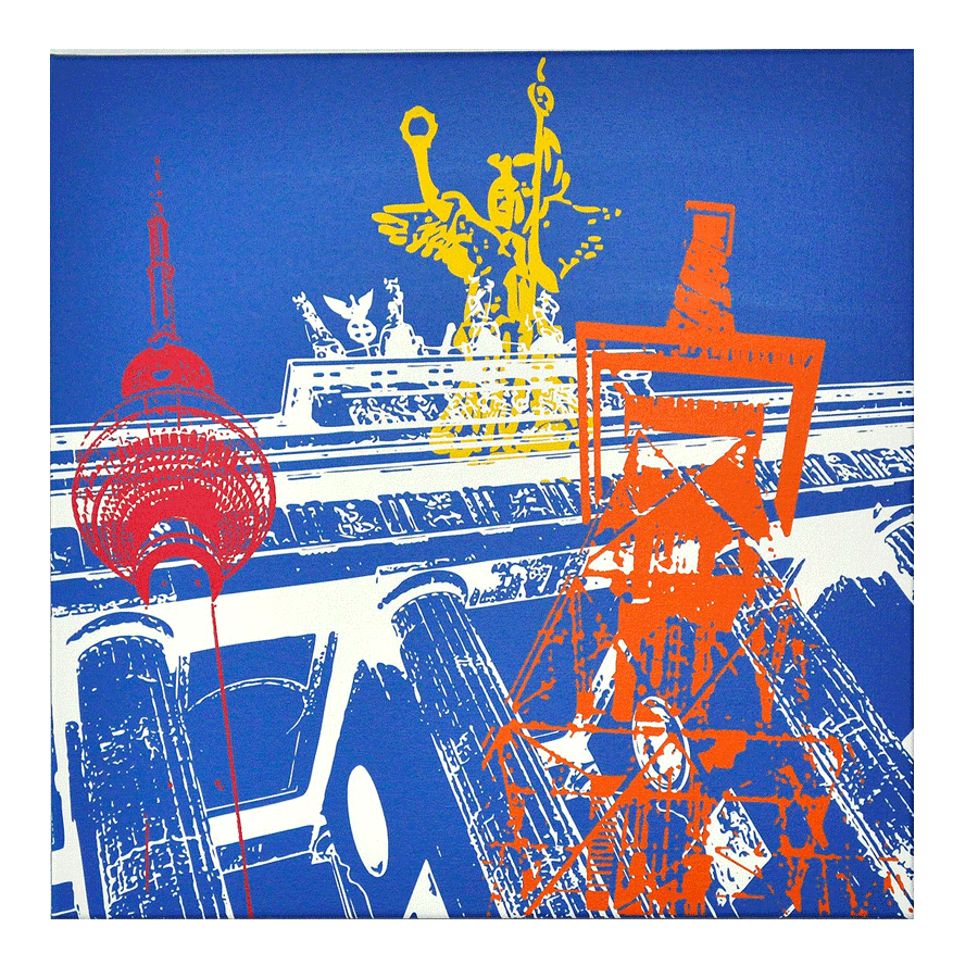 "Leinwandbild ""Berlin in POP ART"", 30x30"