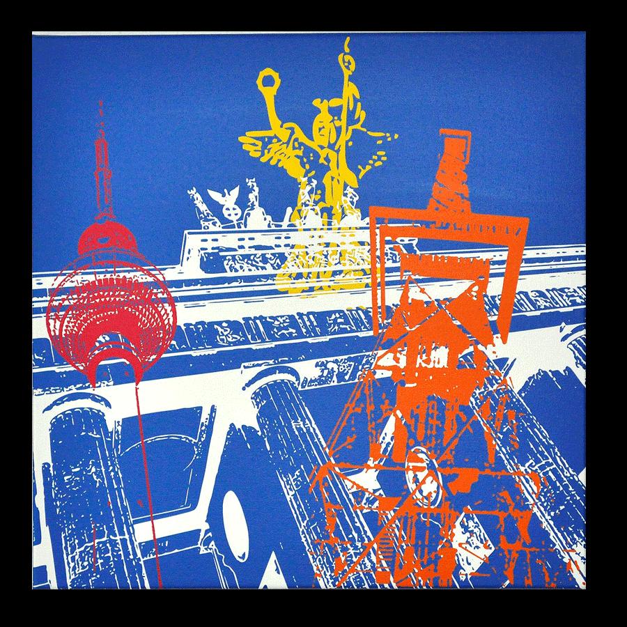 """Leinwandbild """"Berlin in POP ART"""", 40x40"""