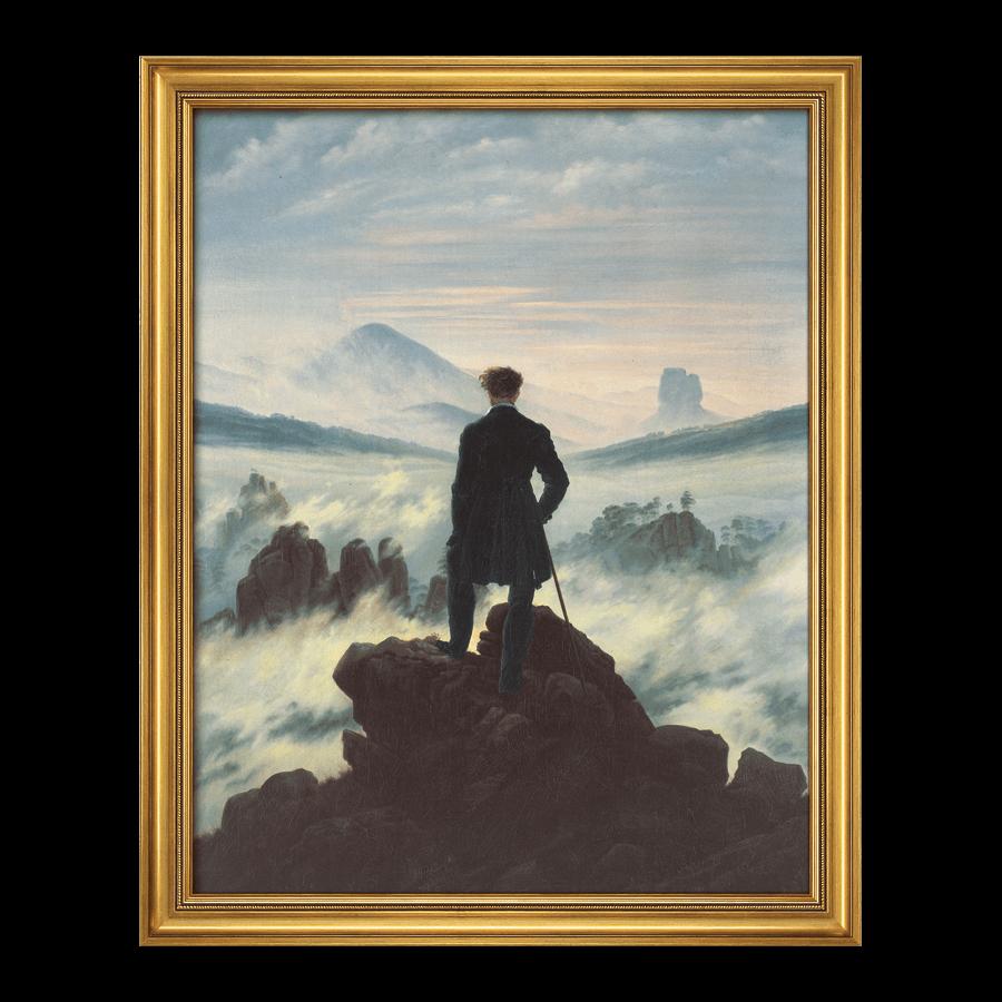 """""""Der Wanderer über dem Nebelmeer"""" (1818)"""