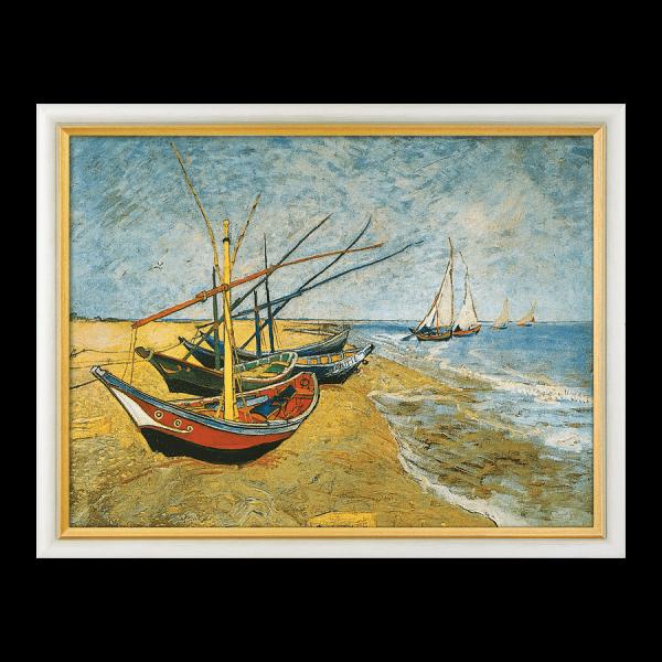 """""""Fischerboote am Strand von Saintes-Maries"""" (1888)"""