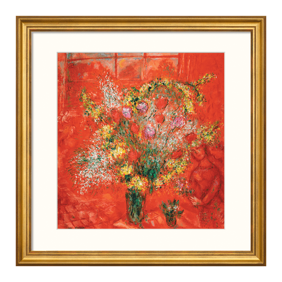 """""""Fleurs sur fond rouge"""" (1970)"""